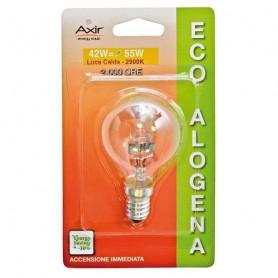 AXIR LAMPADINA LAMPADA ECOALOGENA 42W E14 LUCE CALDA