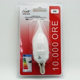 AXIR LAMPADINA RISPARMIO ENERGETICO LAMPADA MINIFIAMMA 9W E14 LUCE CALDA