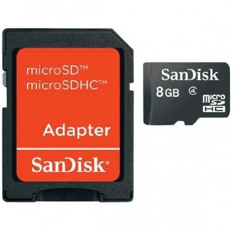SANDISK MICRO SDHC MEMORY CARD 8GB CON ADATTATORE