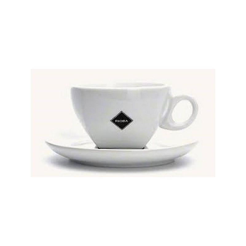 SET 6 TAZZINE IN CERAMICA CON PIATTINI PER CAFFE E CAPPUCCINO CAPIENZA 180 ML