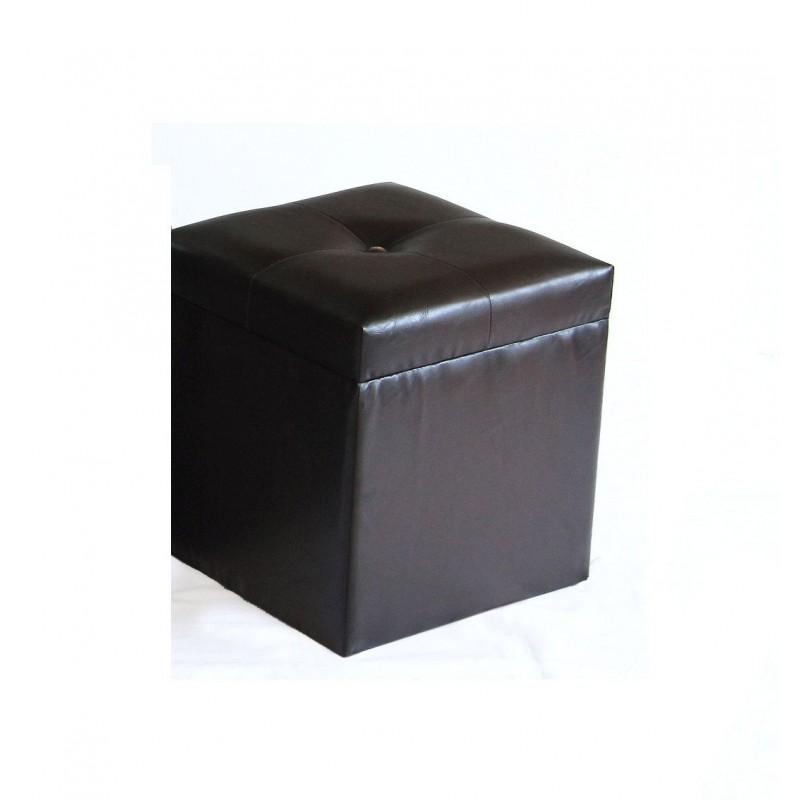 POUFF IN SIMILPELLE 31x35 CM COMPLEMENTO D'ARREDO