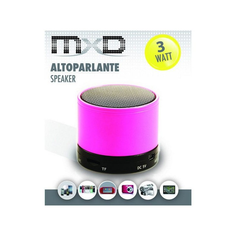 MXD ALTOPARLANTE SPEAKER BLUETOOTH MULTIMEDIALE INGRESSO SD