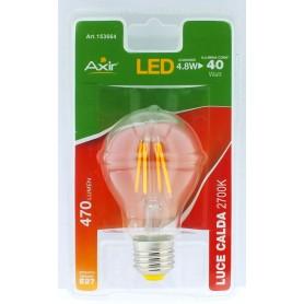 LAMPADINA LED 4.8W, ATTACCO E27, LUCE CALDA