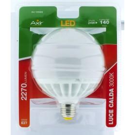 LAMPADINA LED 24W, ATTACCO E27, LUCE CALDA