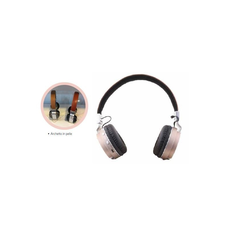 AKAI CUFFIE BLUETOOTH SENZA FILI IN PELLE - MD WebStore 12d74ed37a36