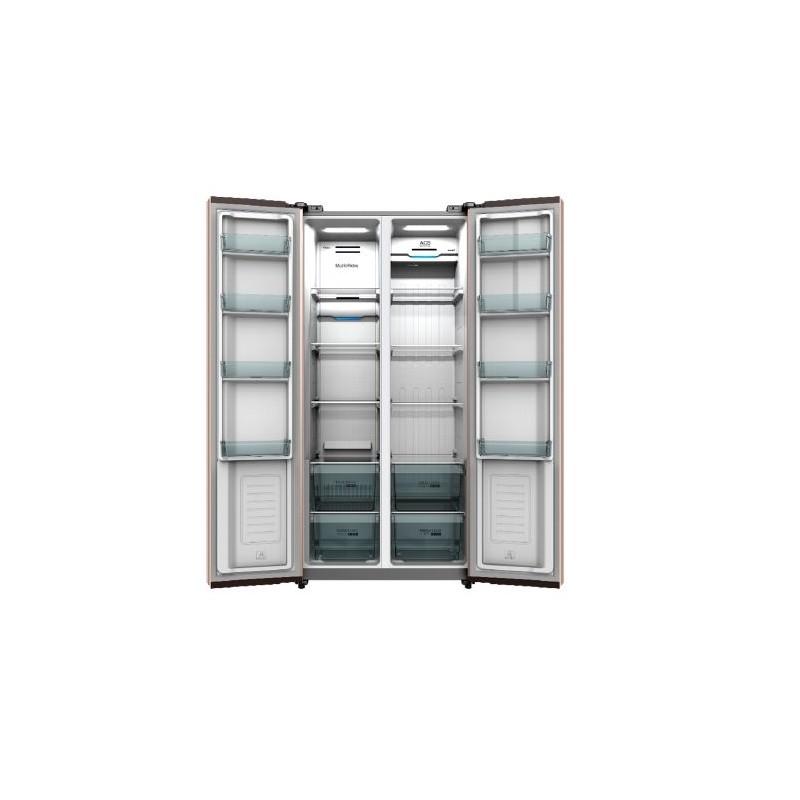 AKAI SBSL50W83S FRIGO SIDE BY SIDE 509 lT INOX - MD WebStore