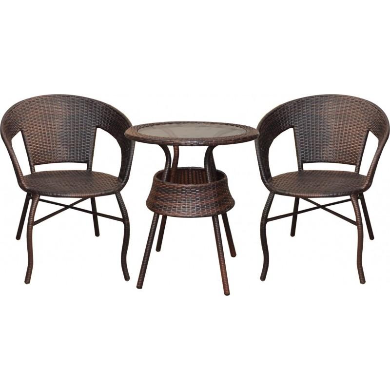 Poltrone In Rattan Offerte.Set Tavolino Con Due Sedie In Rattan Md Webstore