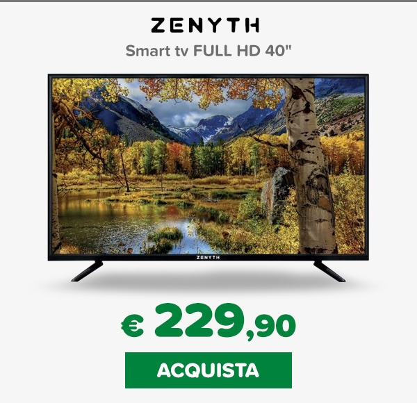 Zenyth tv 40 pollici